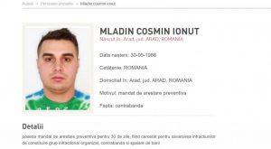 Cosmin Mladin este în acest moment urmărit general